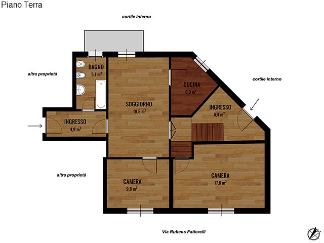 36 Via Rubens Fattorelli, Torino, Piemonte, 2 Stanze da Letto Stanze da Letto, ,1 BagnoBathrooms,Appartamento,Vendita,Via Rubens Fattorelli,1031