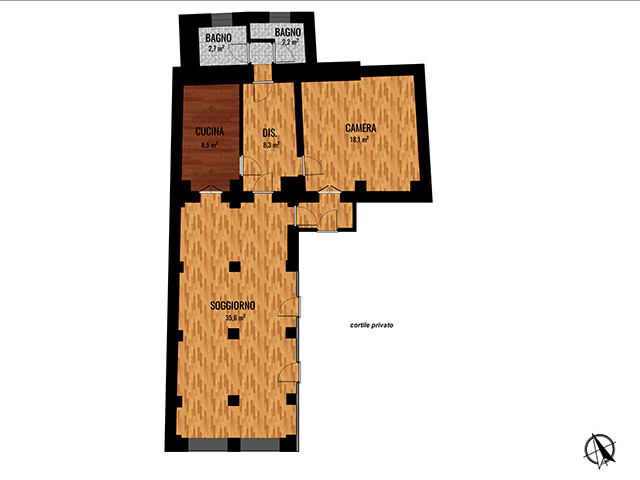 19 Via Sabaudia, Torino, Piemonte, 1 Camera da Letto Stanze da Letto, ,2 BathroomsBathrooms,Appartamento,Vendita,Via Sabaudia,1036